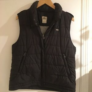 Lacoste Puffy Vest with Convertible Hood